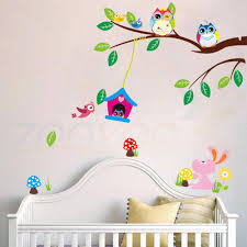 Owl Decorations For Nursery by Aliexpress Com Buy Owl Wall Stickers For Kids Room Decorations