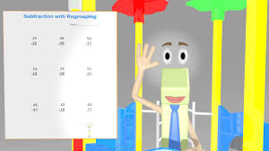 subtraction with regrouping worksheet video 2nd grade math video