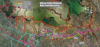 Silicon Valley Map Siliconvalleytrails Northern Silicon Valley Bike Trails