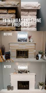 painting a sand stone fireplace u2014 cottonwood shanty
