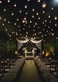 wedding arch lights 31 wedding ceremony space lighting ideas for outdoors weddingomania