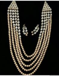 long necklace pearl images Pearls and kundan long necklace set jpg