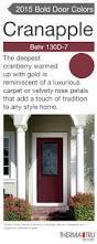 Exterior Door Colors Classic Craft Canvas Collection Fiberglass Door Painted Cranapple