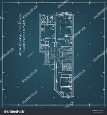 architectural technical hand drawn floor plan stock vector