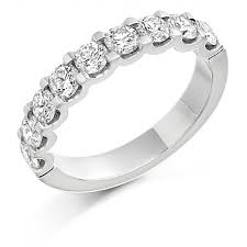 half eternity ring platinum sabrina cut diamond true half eternity ring 1 18cts