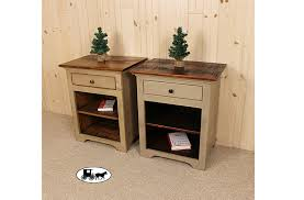 Rustic Pine Nightstand Amish U0026 Adirondack Real Wood Night Stands New York
