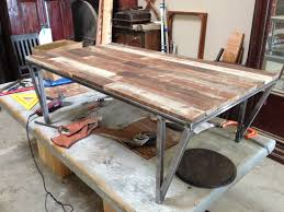 rustic metal and wood dining table custom metal and wood furniture at san diego rustic furniture made