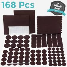 Furniture Pads For Laminate Floors Furniture Pads Set 168 Pcs Value Pack Brown Heavy Duty Adhesive