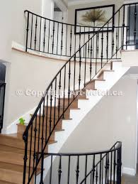 simple wrought iron interior stair railing design buy creative for