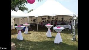 simple wedding party tent decorations youtube