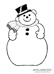 a snowman coloring page print color fun