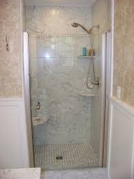 interior shower stalls with seat showers without glass walk in