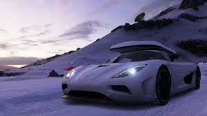koenigsegg purple forza blizzard mountain part 5 koenigsegg agera with a ski box