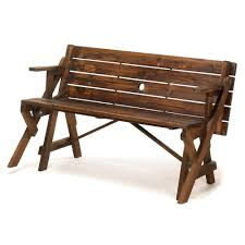 Rustic Wooden Garden Furniture Rustic Convertible Garden Table Bench U2013 Charming Outdoor Living