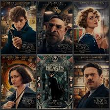 movie in the bedroom fantastic beasts and where harry potter movie posters around retro