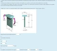 sketch a side view of the beam segment and plot th chegg com