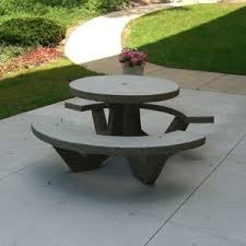 round cement picnic tables precast concrete benches and tables american eagle precast