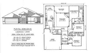 1 story home plans 3 bedrooms 1701 2250 square