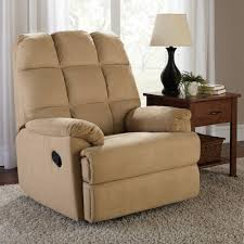 Recliners With Ottoman by Mainstays Microsuede Rocker Recliner Walmart Com