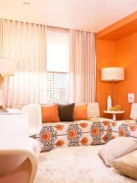 Orange Patterned Curtains Living Room Wooden Table Overstock Curtains Bold Patterned