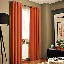 Grommet Curtains 63 Length Amazon Com Sun Zero Becca Energy Efficient Grommet Curtain Panel