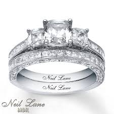 neil bridal set jared neil bridal 2 5 8 ct tw diamonds 14k white gold