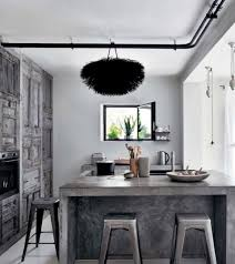 Kitchen With Small Island by Small Industrial Kitchen With Iron Island Also Metal Stools And