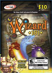 prepaid card wizard101 free