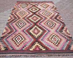 Colorful Aztec Rug Multi Color Rug Etsy