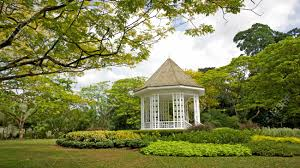 Botanical Gardens In Singapore by A Gazebo Known As The Bandstand In Singapore Botanic Gardens