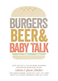 burgers and babies s baby shower invitation shower