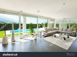 modern villa interior beautiful living room stock photo 159239870