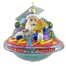 christopher radko ufo ornament 2000 santa