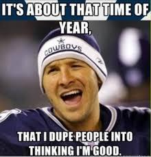 Romo Interception Meme - redskins end cowboys 6 game streak 20 17 in ot tony romo tony