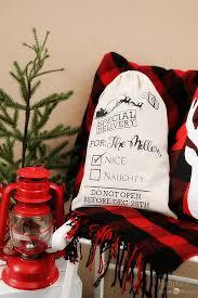 personalized santa sack make a personalized santa sack for neighbors with cricut