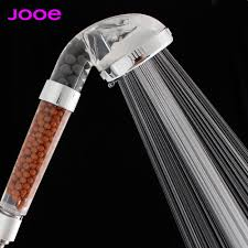 online shop jooe water saving shower heads round handheld anion