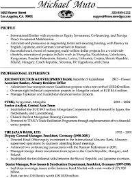 Sample Resume For Banking Operations by Sample Resume Bank Executive