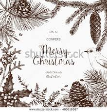 vintage design greeting card invitation christmas stock vector