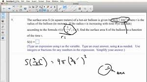 word problems on composition of functions youtube