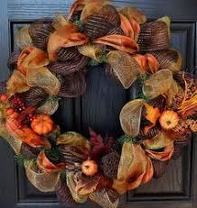 fall wreath thanksgiving autumn turkey deco mesh thanksgiving