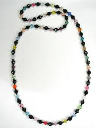 necklace beaded crystal images Handmade beaded black jewelry jpg