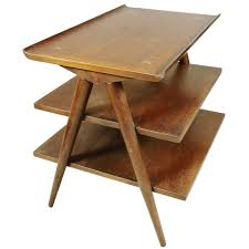 modern furniture end tables mid century modern american of martinsville walnut magazine table