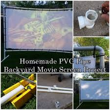 homemade pvc pipe backyard movie screen project the homestead