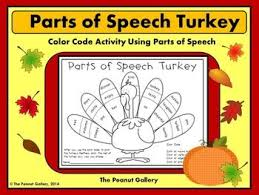 part speech thanksgiving worksheets festival collections