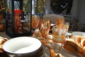 Fall Table Settings by Fall Dining On The Porch Celebrating The Russet Shades Of Autumn
