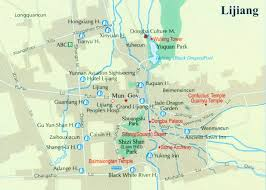 Xi An China Map by Lijiang Map Map Of Lijiang Lijiang Tourist Map Tourist Map Of