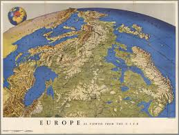 Ussr Map Europe As Viewed From The Ussr Made By R Harrison For The Us