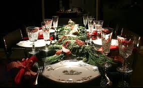 dining room christmas dinner table settings formal christmas
