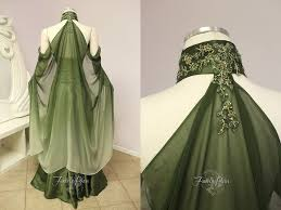 this elven bridal gown is for the bride who desires an enchanting