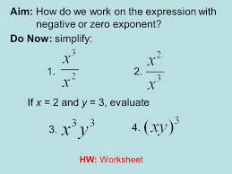 aim how do we work on the expression with negative or zero